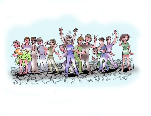 Lenguaje Gestual de la Costa Norte de Colombia. Dibujo de Luis Germán Morales